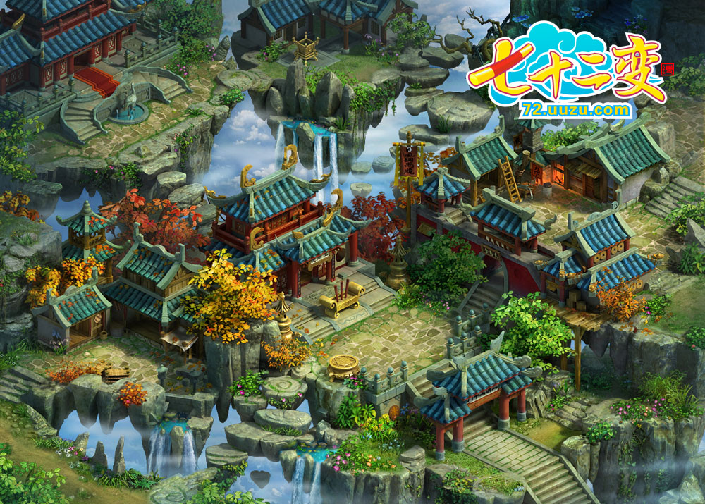 q版游戏主城地图